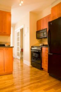 Interior, kitchen, wood floor