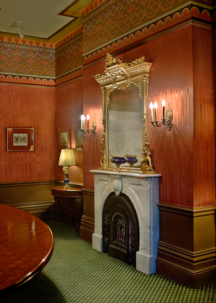 Antique fireplace, boardroom