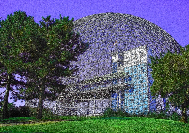 Montreal Biosphere, past USA Pavilion at Expo 67
